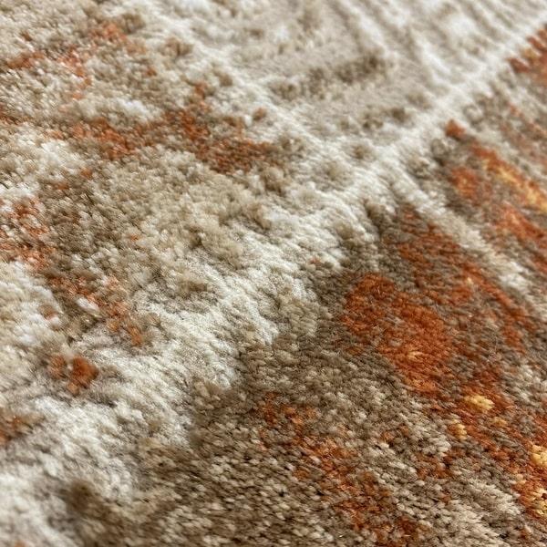Модерен килим - Лора 7533 Брик - детайл - 2