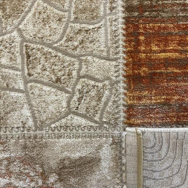 Модерен килим - Лора 7533 Брик - детайл - 3