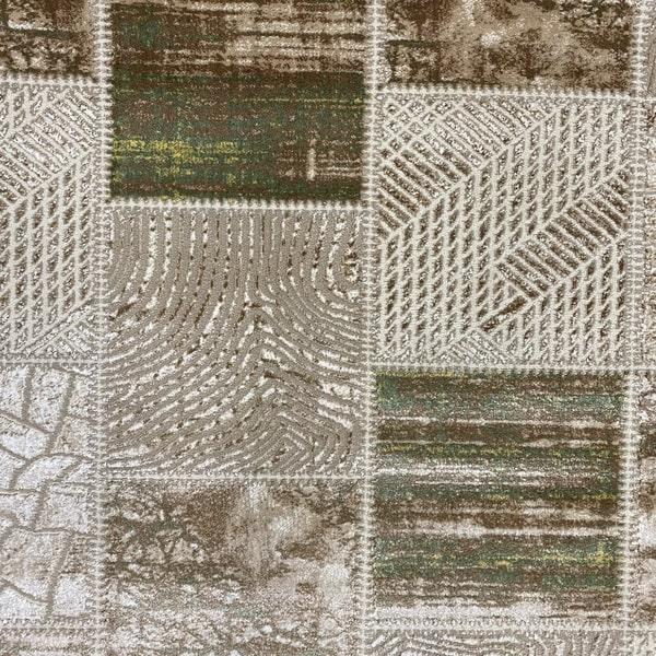 Модерен килим - Лора 7533 Зелен - детайл - 1
