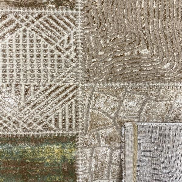 Модерен килим - Лора 7533 Зелен - детайл - 3