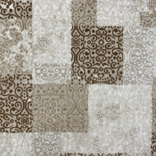 Модерен килим - Лора 7753 Бежов - детайл - 1
