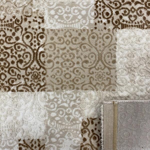 Модерен килим - Лора 7753 Бежов - детайл - 3