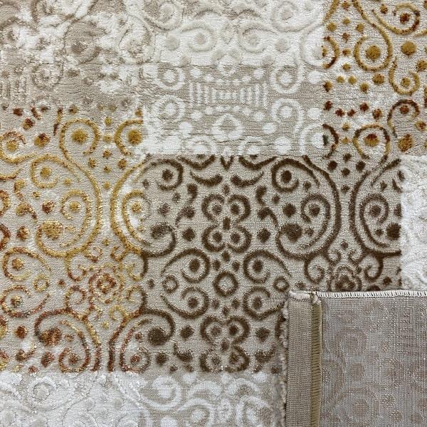 Модерен килим - Лора 7753 Крем - детайл - 3
