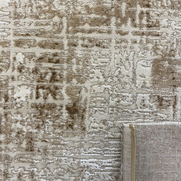 Модерен килим - Лора 8053 Бежов - детайл - 3