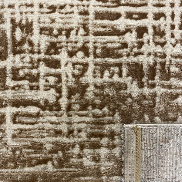 Модерен килим - Лора 8053 Светло Кафяв - детайл - 3