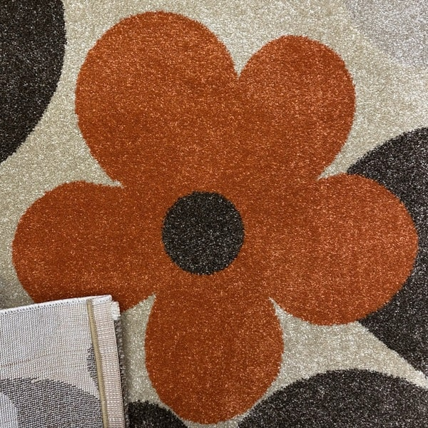 Модерен килим - Прима 4023 Брик - детатйл - 3