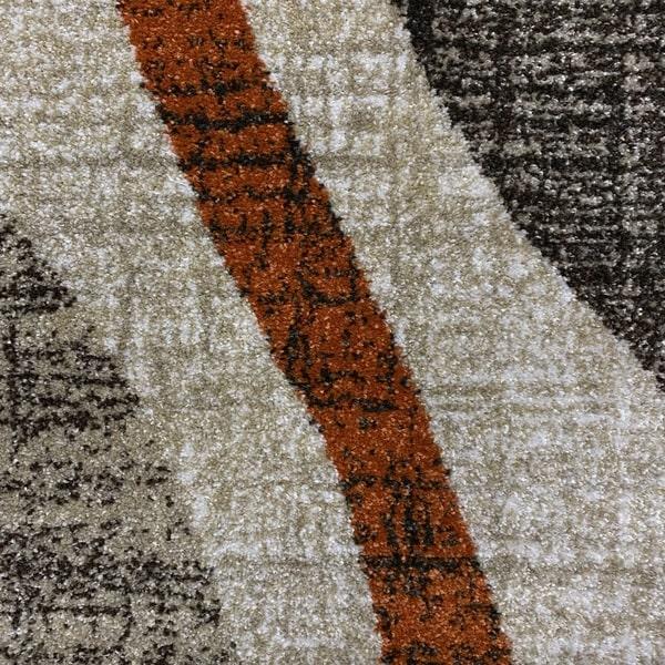 Модерен килим - Прима 7784 Брик - детайл - 1