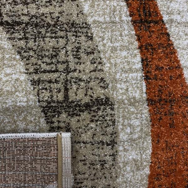 Модерен килим - Прима 7784 Брик - детайл - 3