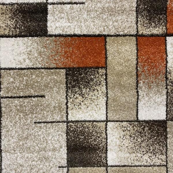 Модерен килим - Прима 7956 Брик - детайл - 1