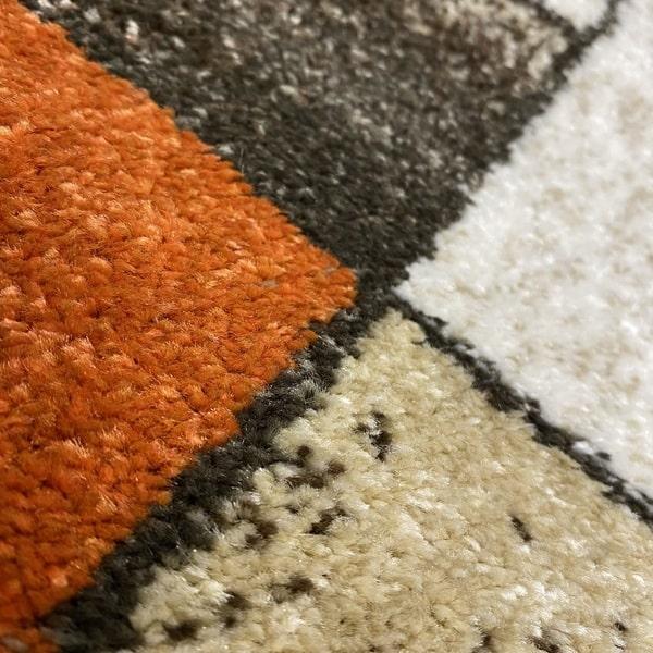 Модерен килим - Прима 7956 Брик - детайл - 2
