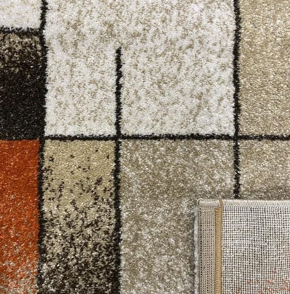 Модерен килим - Прима 7956 Брик - детайл - 3