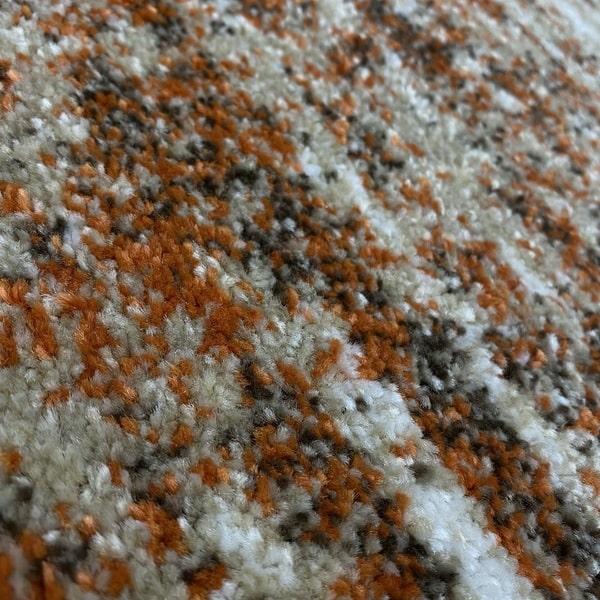 Модерен килим - Прима 7989 Брик - детайл - 2