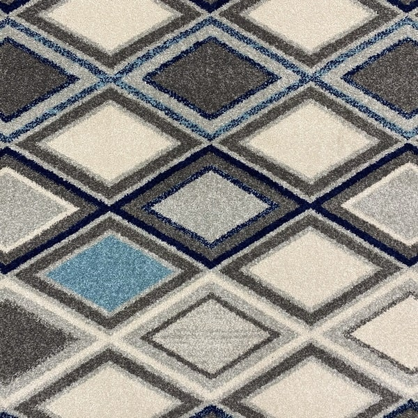 Модерен килим - Сена 1323 Син - детайл - 1
