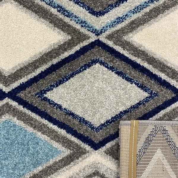 Модерен килим - Сена 1323 Син - детайл - 3