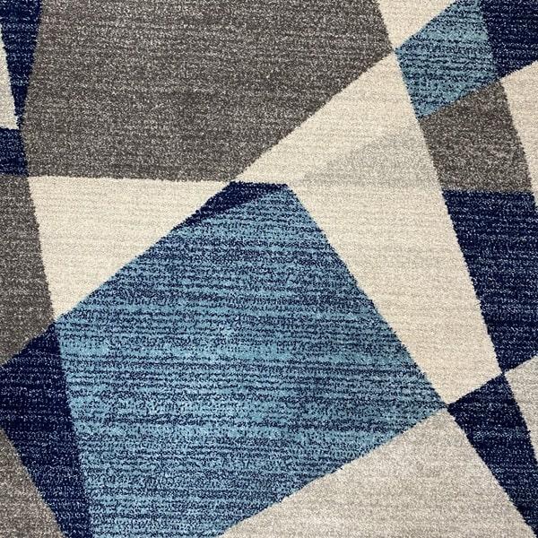 Модерен килим - Сена 1331 Син - детайл - 1