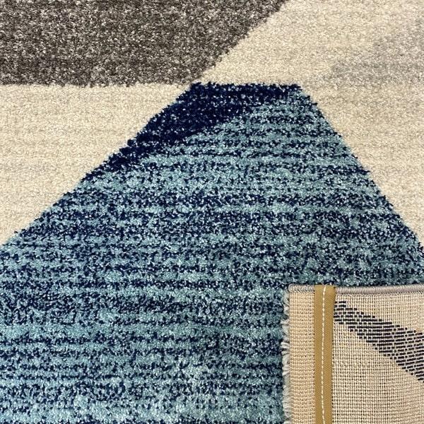 Модерен килим - Сена 1331 Син - детайл - 3