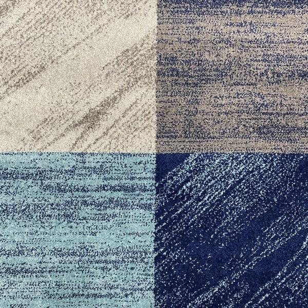 Модерен килим - Сена 1355 Син - детайл - 1