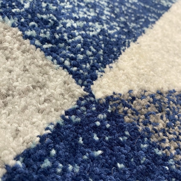 Модерен килим - Сена 1355 Син - детайл - 2