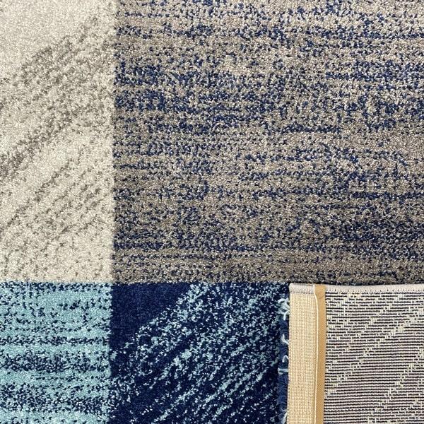 Модерен килим - Сена 1355 Син - детайл - 3