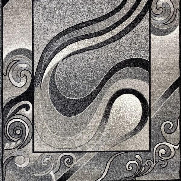 Мокетен килим - 1818 Сив - детайл - 1