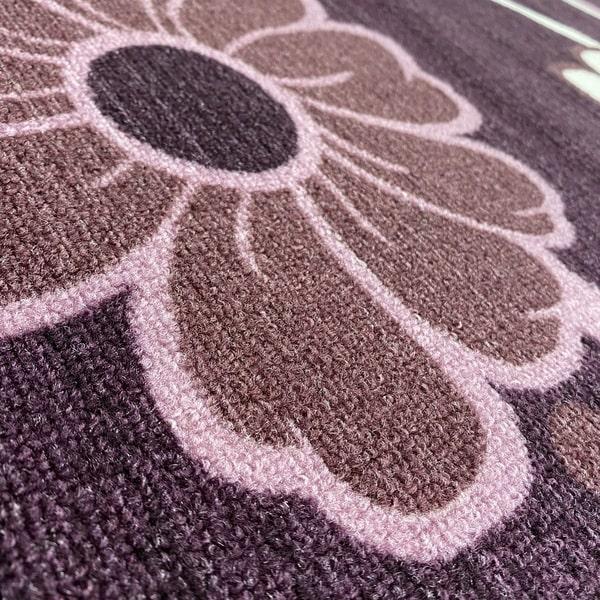 Мокетен килим - Цвете Лилав - детайл - 2