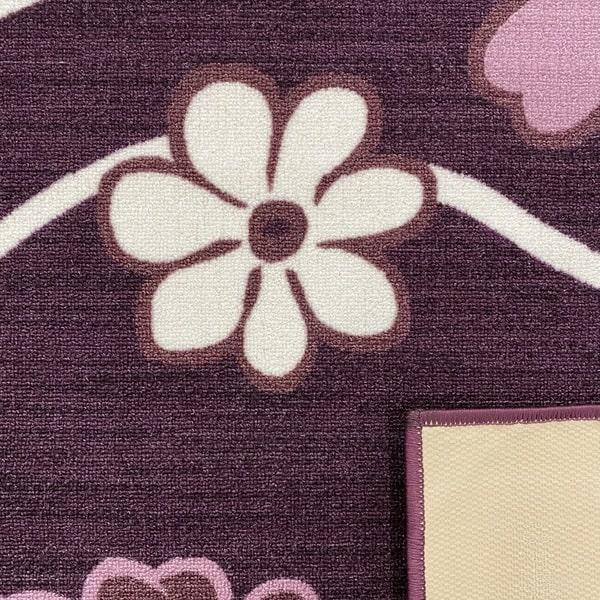 Мокетен килим - Цвете Лилав - детайл - 3