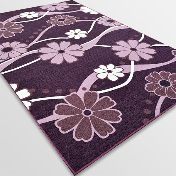 Мокетен килим - Цвете Лилав