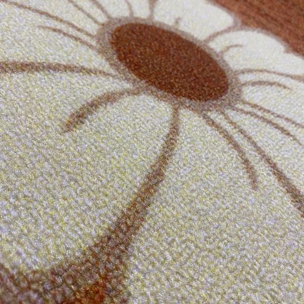 Мокетен килим - Цвете Оранжев - детайл - 2