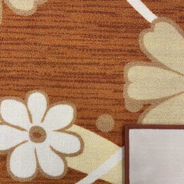 Мокетен килим - Цвете Оранжев - детайл - 3