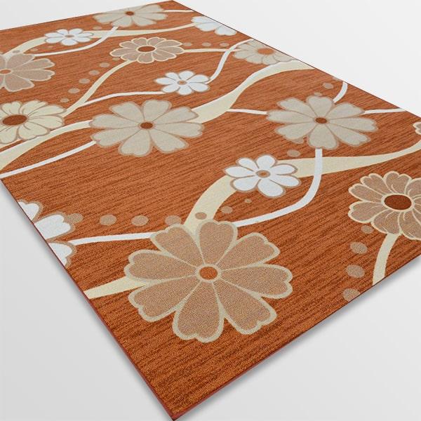 Мокетен килим - Цвете Оранжев