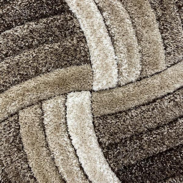 Рошав килим - 3Д Софт Шаги 304 Визон/Кафяв - детайл - 1