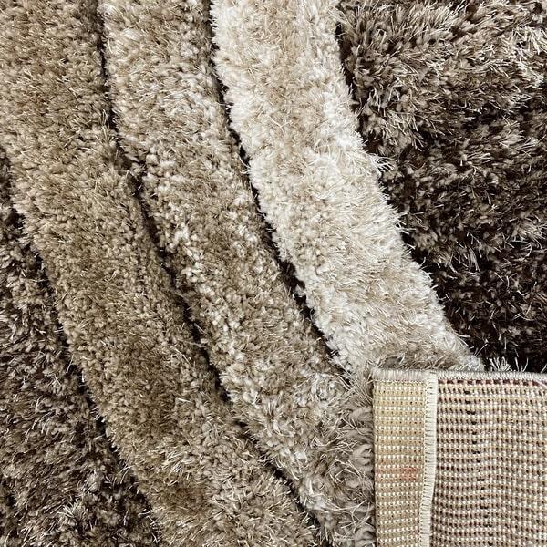 Рошав килим - 3Д Софт Шаги 304 Визон/Кафяв - детайл - 3
