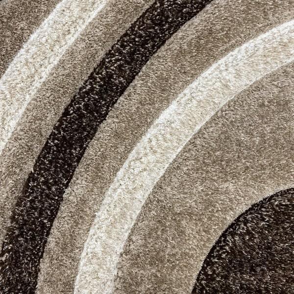Рошав килим - 3Д Софт Шаги 305 Визон/Кафяв - детайл - 1