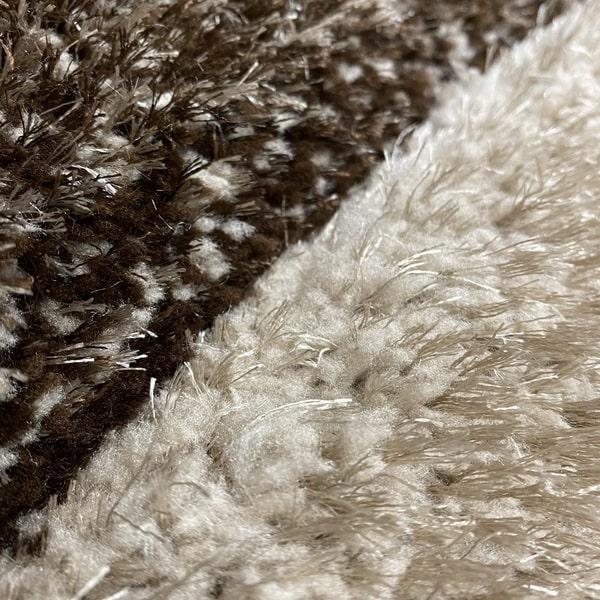 Рошав килим - 3Д Софт Шаги 305 Визон/Кафяв - детайл - 2