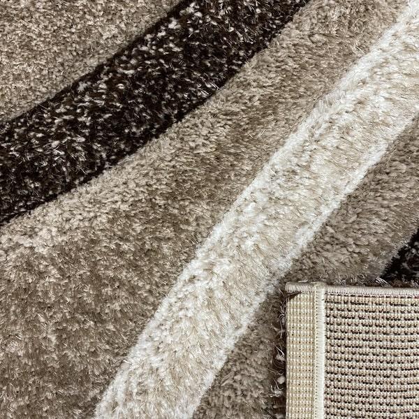 Рошав килим - 3Д Софт Шаги 305 Визон/Кафяв - детайл - 3
