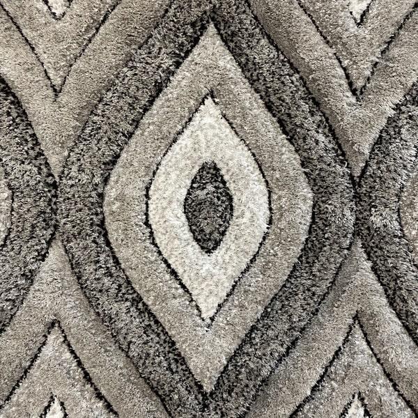 Рошав килим - 3Д Софт Шаги 311 Сив - детайл - 1