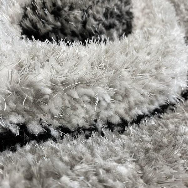 Рошав килим - 3Д Софт Шаги 311 Сив - детайл - 2