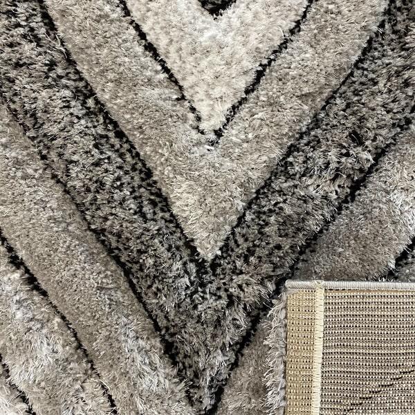Рошав килим - 3Д Софт Шаги 311 Сив - детайл - 3