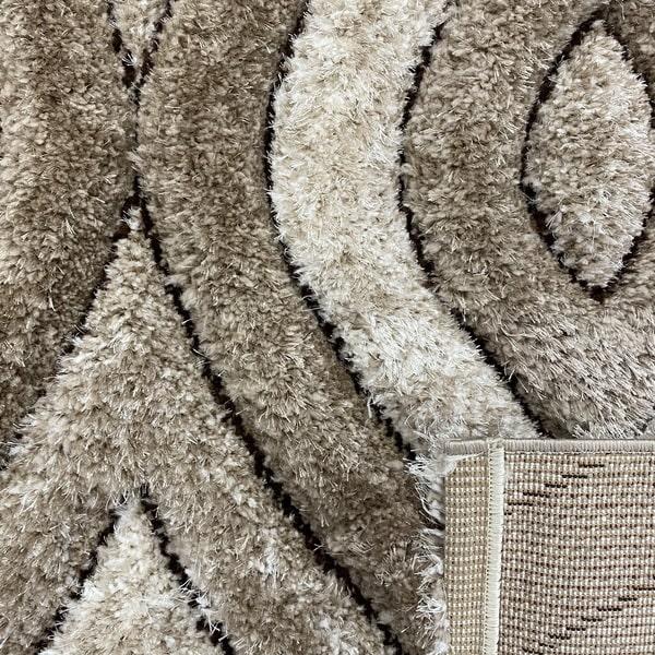 Рошав килим - 3Д Софт Шаги 311 Визон/Бежов - детайл - 3