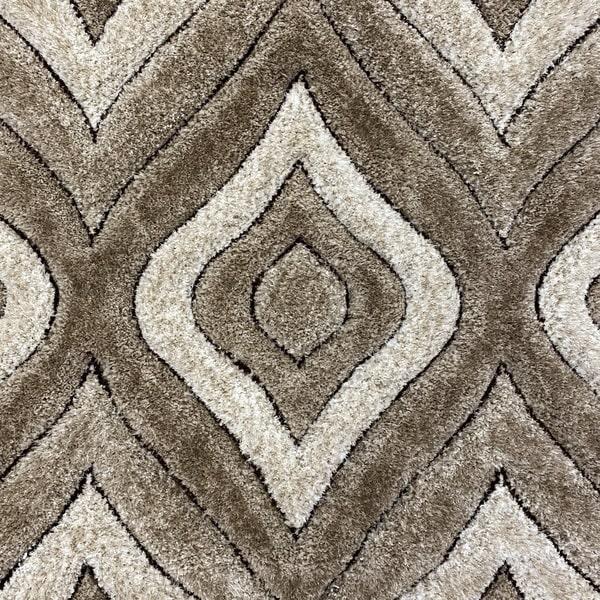 Рошав килим - 3Д Софт Шаги 315 Визон/Бежов - детайл - 1