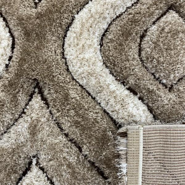 Рошав килим - 3Д Софт Шаги 315 Визон/Бежов - детайл - 3