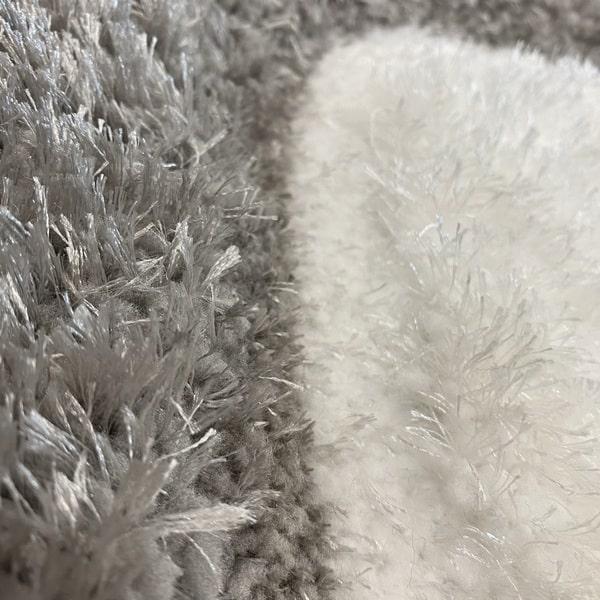 Рошав килим - 3Д Софт Шаги 325 Сив/Черен - детайл - 2