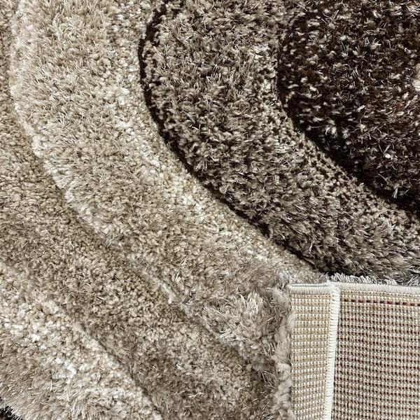 Рошав килим - 3Д Софт Шаги 325 Визон/Кафяв - детайл - 3