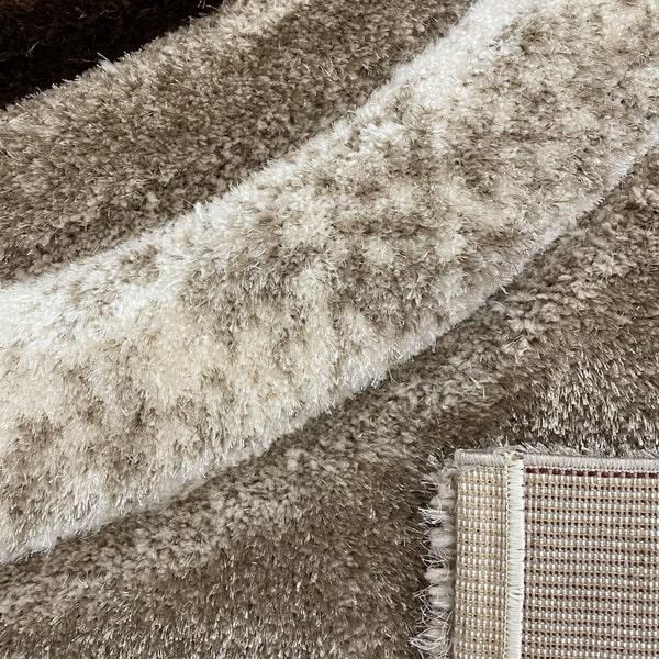 Рошав килим - 3Д Софт Шаги 342 Визон/Бежов - детайл - 3