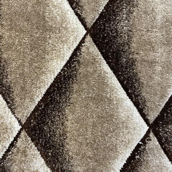 Рошав килим - 3Д Софт Шаги 376 Визон/Кафяв - детайл - 1