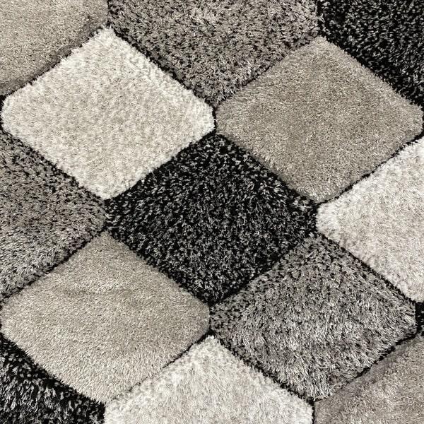 Рошав килим - 3Д Софт Шаги 420 Сив - детайл - 1
