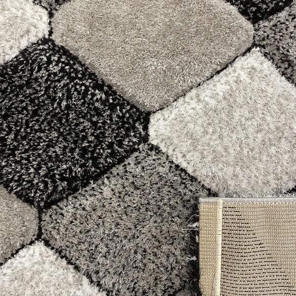 Рошав килим - 3Д Софт Шаги 420 Сив - детайл - 3
