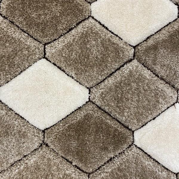 Рошав килим - 3Д Софт Шаги 420 Визон/Кафяв - детайл - 1