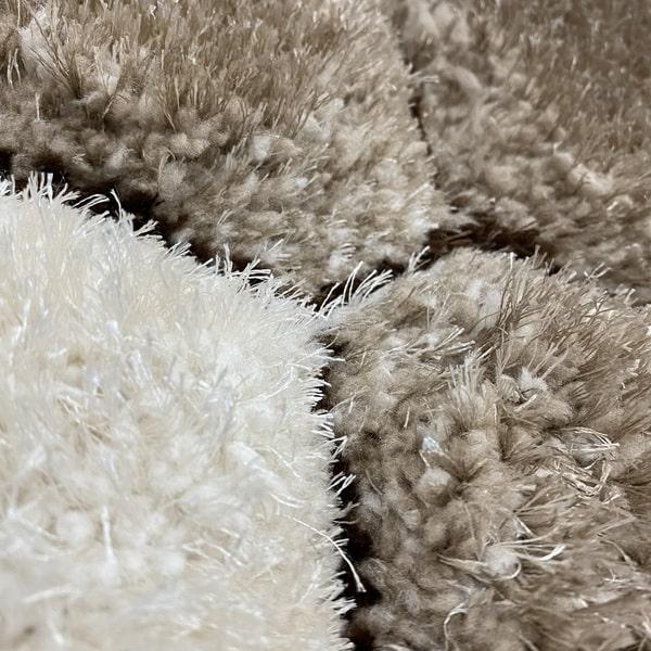 Рошав килим - 3Д Софт Шаги 420 Визон/Кафяв - детайл - 2