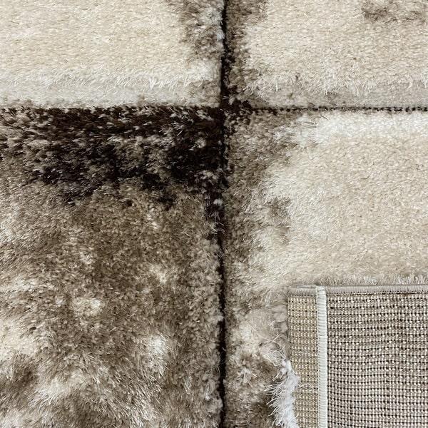 Рошав килим - 3Д Софт Шаги 535 Бежов/Визон - детайл - 3